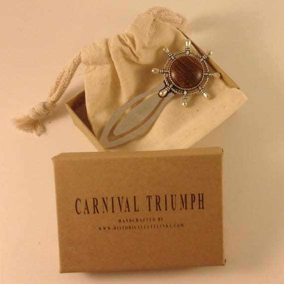 Bookmark made from Carnival Triumph