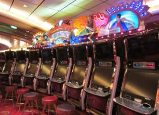 Slot machines on a cruise