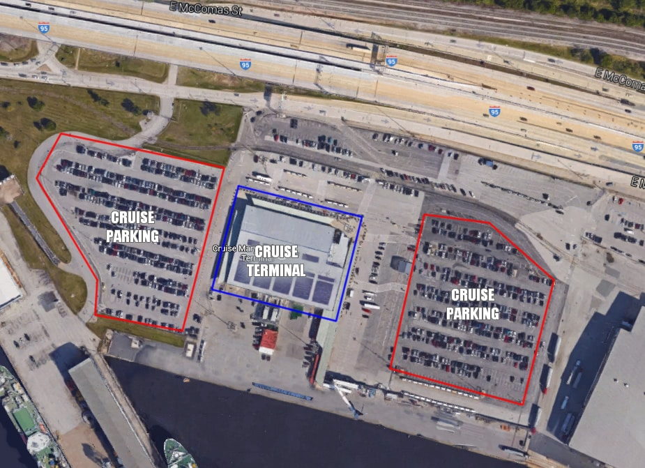 Guide To Baltimore Cruise Parking Cruzelycom - Parking at baltimore cruise ship terminal