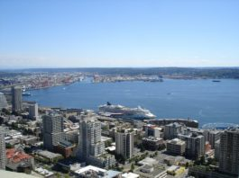 Port of Seattle aerial shot
