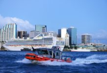 Coast Guard with cruise ship