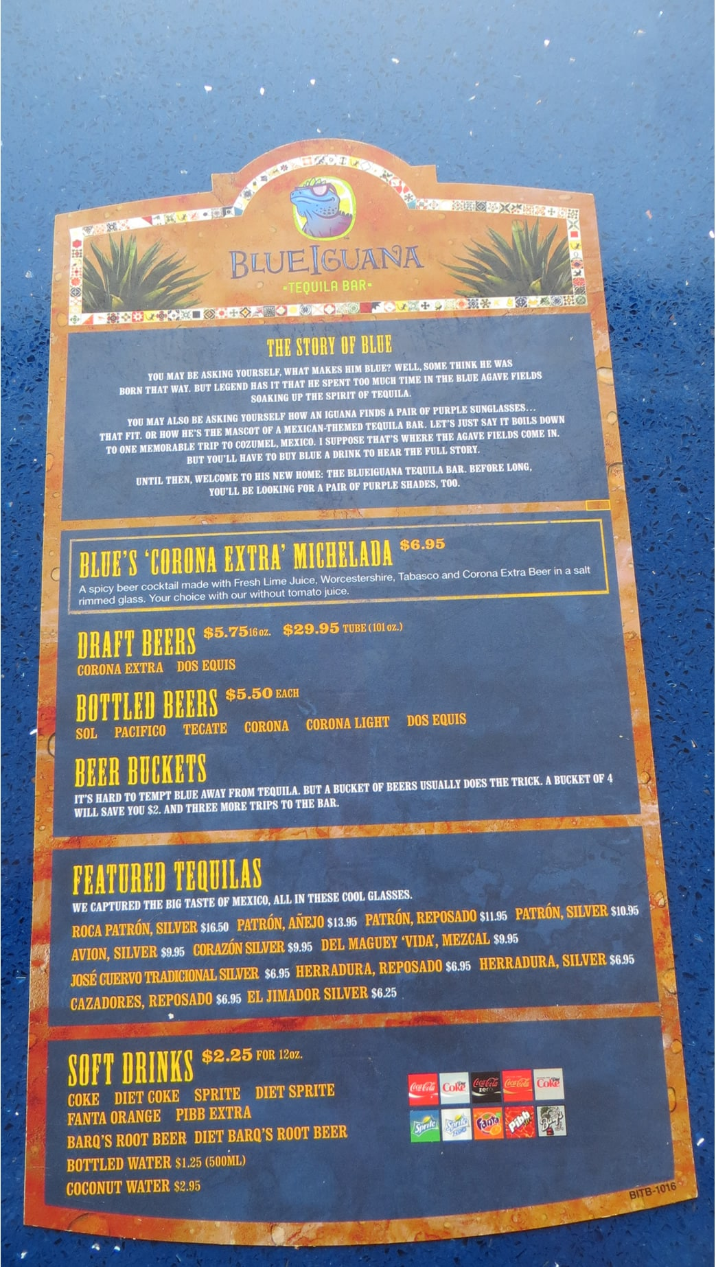Blueiguana Tequila Bar Full Menu With Prices Cruzely Com
