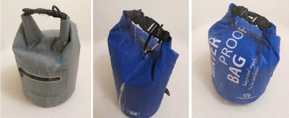 Dry bags in shower