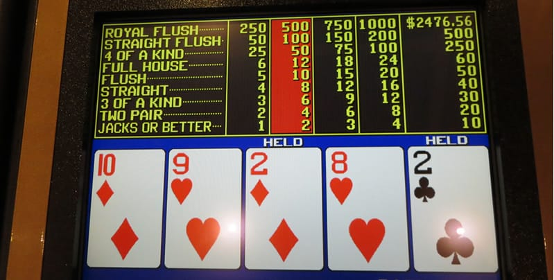 Jacks or better video poker payouts