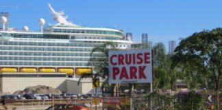 Galveston cruise parking sign