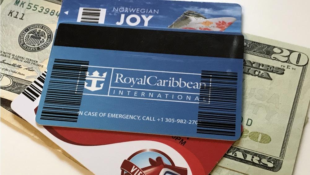 Ship keycard on top of cash money