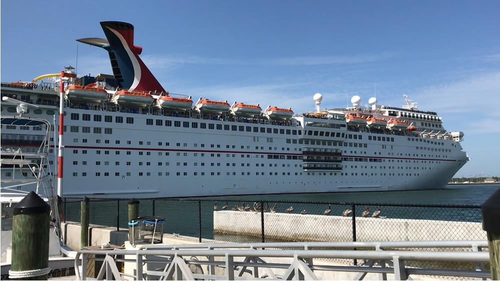 Carnival Elation leaving Port Canaveral