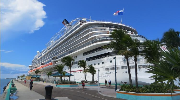 Carnival Horizon docked in Nassau