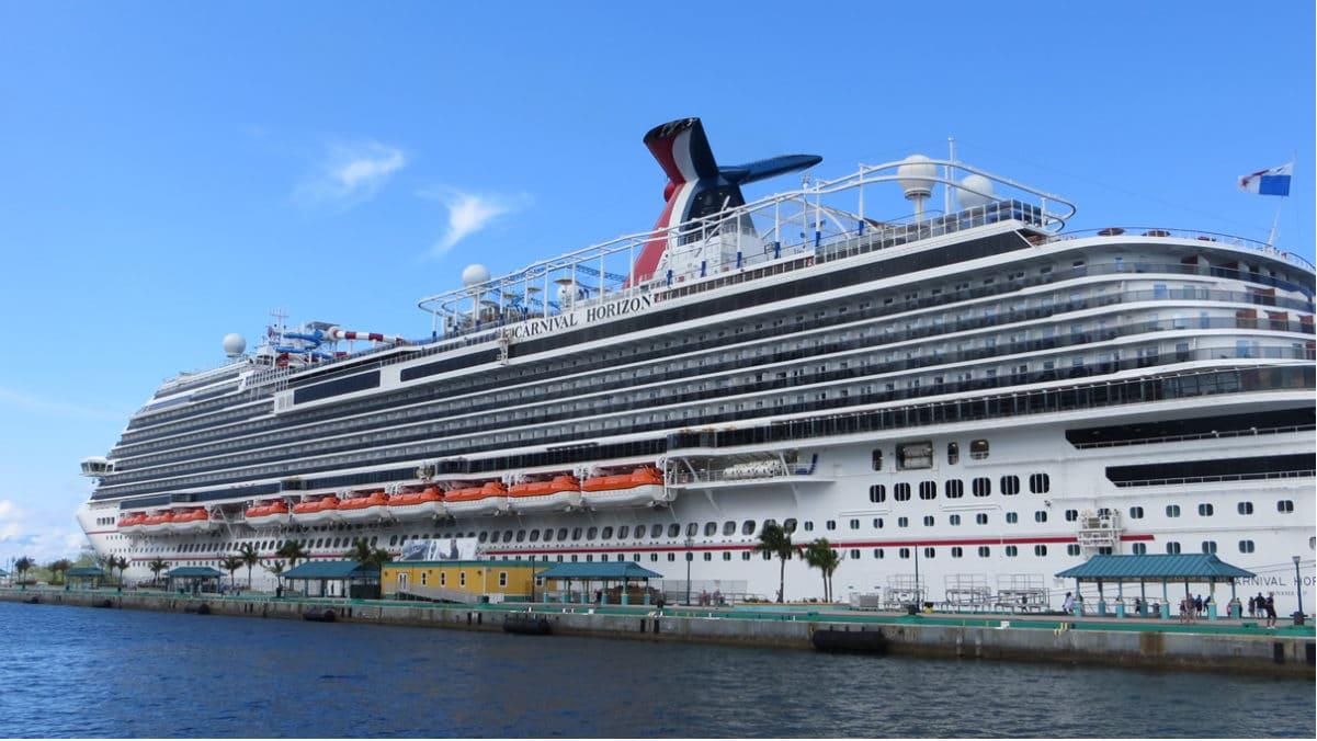 Carnival Horizon in port in Nassau