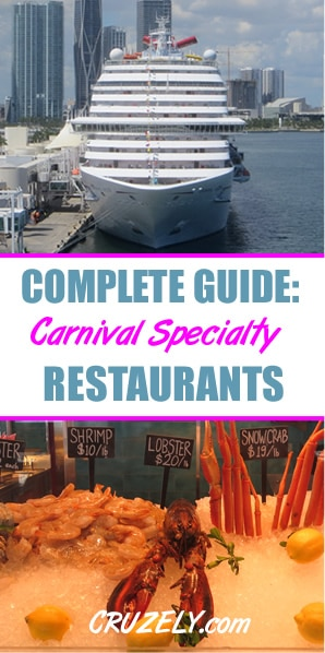 Complete Guide to Carnival Specialty Restaurants (Costs, Food, and More)