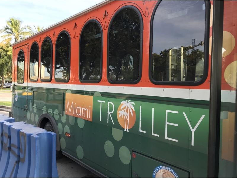 Coral Way trolley at the Port of Miami