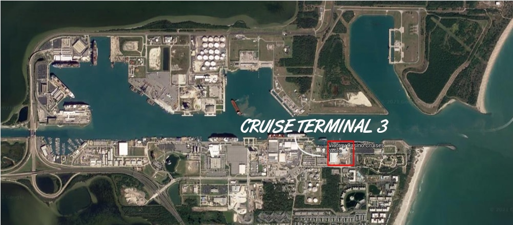 Map showing CT3 location at Port Canaveral