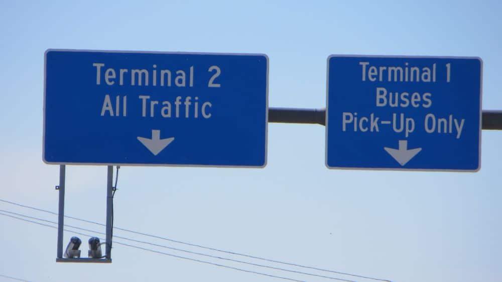 Galveston shuttle sign