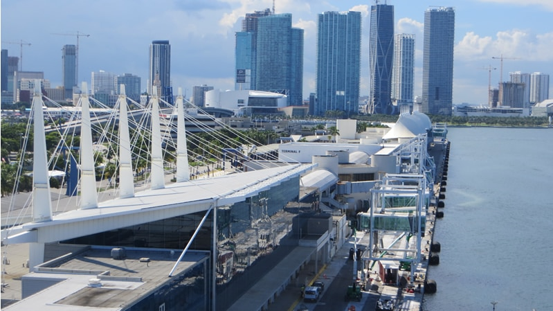 Terminals at the Port of Miami