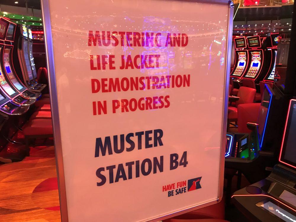Muster station on Vista