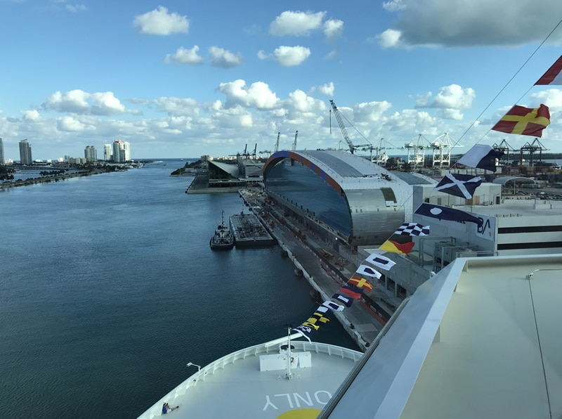 View of new terminal from Norwegian Cruise Lines from Port of Miami