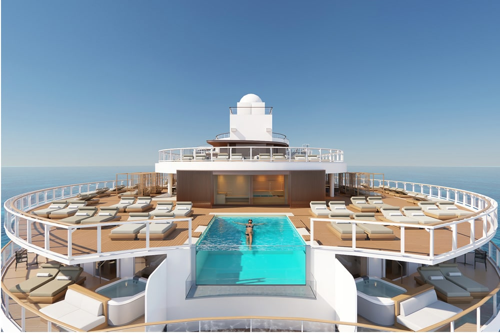 Pool at The Haven on Norwegian Prima