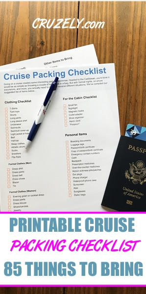 THE Cruise Packing Checklist: 85 Items To Bring (Printable)