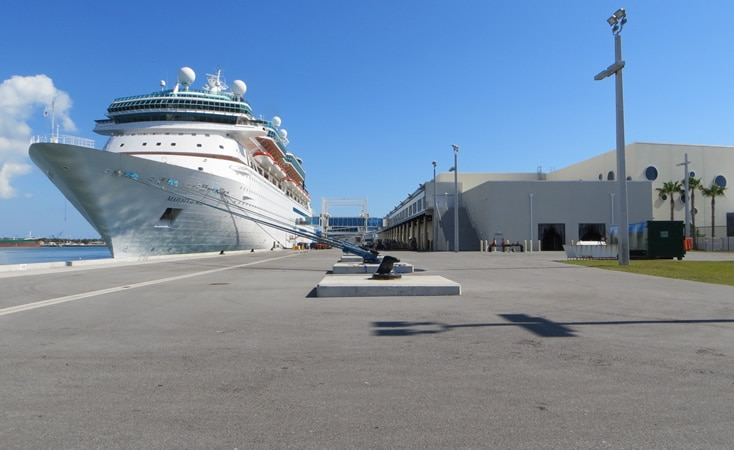Cruise ship docked at Port Canaveral