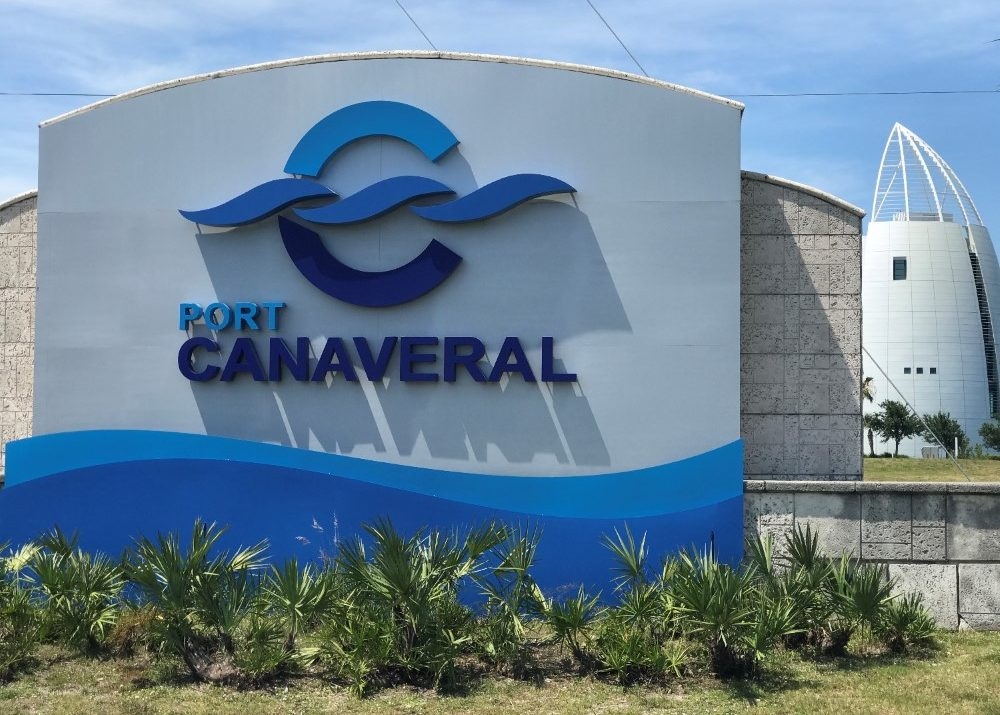 Port Canaveral sign in Florida