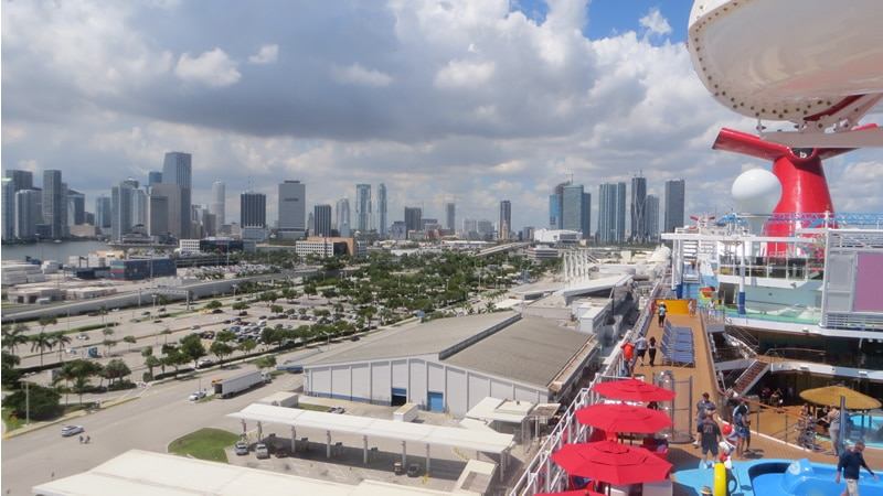 Port of Miami from a cruise ship