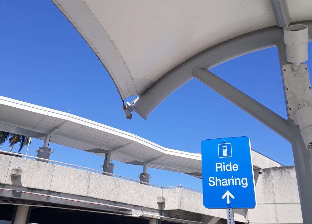 Ride sharing sign