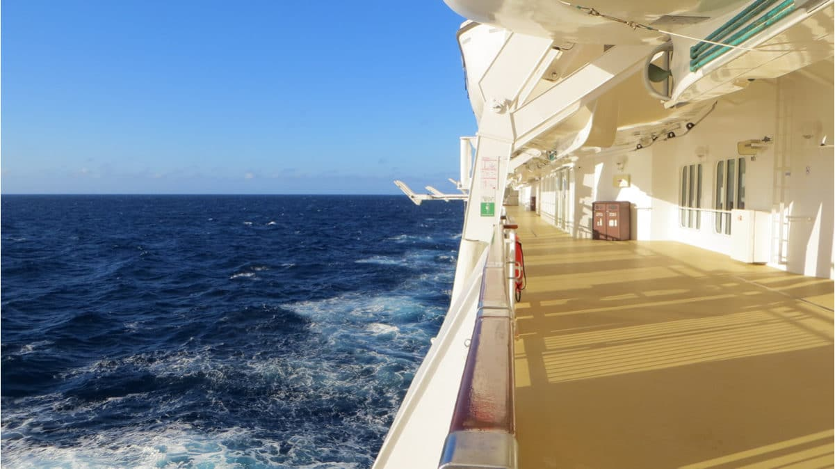 Seaview from the deck of a cruise ship