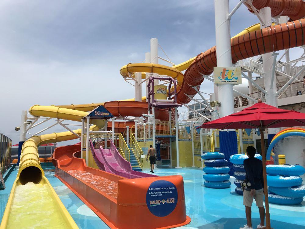 Vista waterpark on the ship